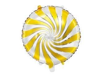 Balon foliowy Cukierek - 35 cm - złoty