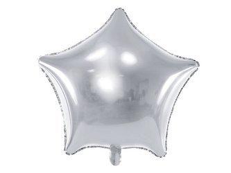 Balon foliowy Gwiazdka - 48 cm - srebrny