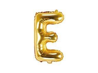 """Balon foliowy Litera """"E"""" - 35 cm - złoty"""