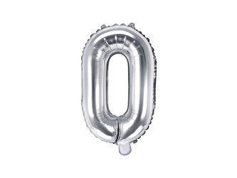 "Balon foliowy Litera ""O"" - 35 cm - srebrny"