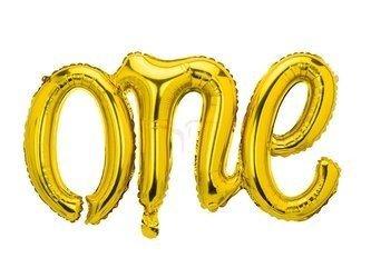 Balon foliowy One - złoty - 66 x 37 cm