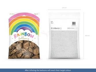 Balony Rainbow 23 cm metalizowane - złote - 100 szt.