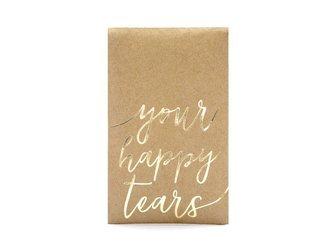 Chusteczki higieniczne Your happy tears - 7,5 x 12 cm - złoty