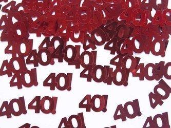 Konfetti metalizowane - liczba 40 - czterdzieści - 15 g