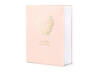 Księga Gości Wianuszek - 20 x 24,5 cm - pudrowy róż - 22 kartki
