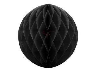 Kula bibułowa czarna - 20 cm
