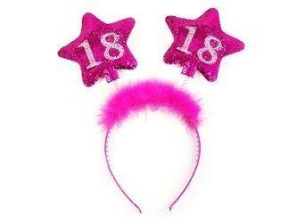 Opaska z gwiazdkami 18 urodziny - różowe