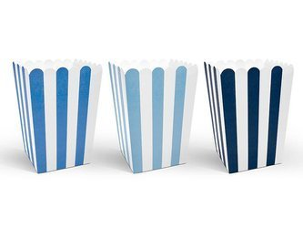 Pudełka na popcorn - 7,5 x 7,5 x 12,5 cm - 6 szt.