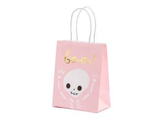 Torebka na prezent Boo - różowa - 14 x 18 x 8 cm