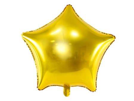 Balon foliowy Gwiazdka - 48 cm - złoty