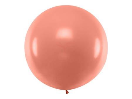 Balon okrągły 1 m - Metallic Rose Gold - Metaliczny róż