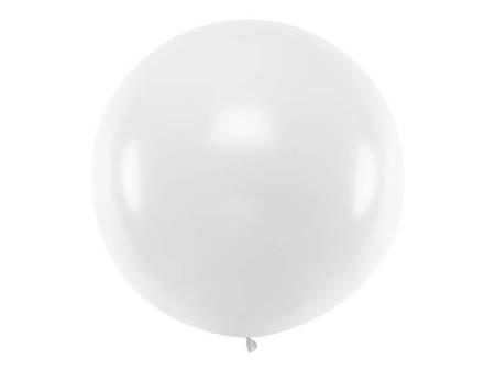 Balon okrągły - 1 m - Pastel White