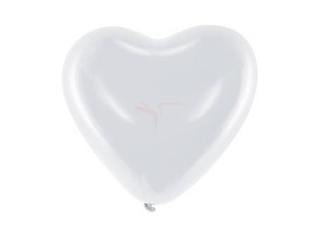 """Balony 10"""" Serca - Pastel biały - 100 szt."""