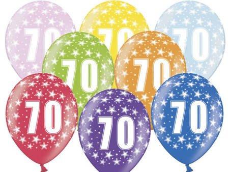 Balony 30 cm - 70th Birthday - 70 urodziny - Metallic Mix - 50 szt.