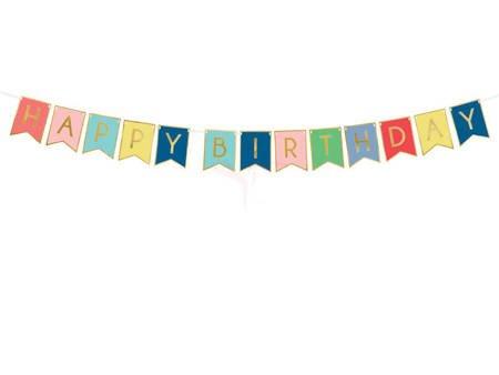 Baner Happy Birthday mix - 15 x 175 cm