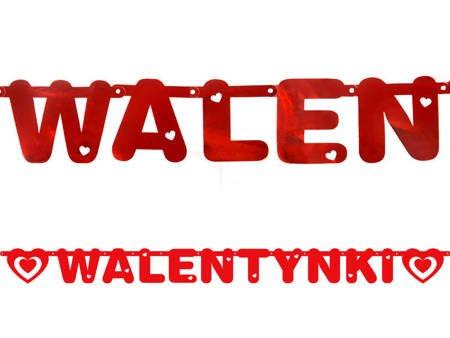 Baner Walentynki - czerwony - 12 x 160 cm