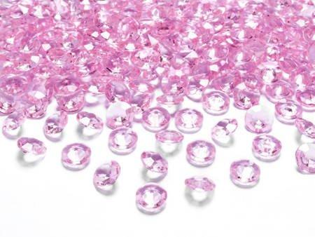 Diamentowe konfetti jasnoróżowe - 12 mm - 100 szt.