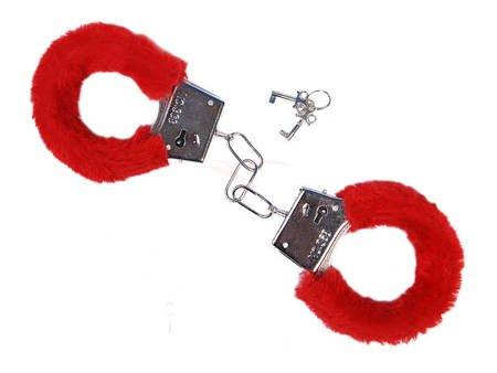 Kajdanki z czerwonym futerkiem