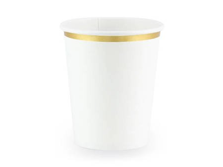 Kubeczki - 260 ml - biały - 6 szt.