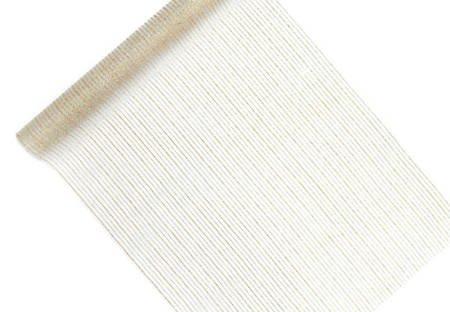 Organza z nadrukiem - 0,48 x 9 m - biała