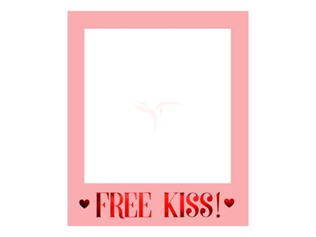 Ramka selfie - Zdjęcia - Serca - Free Kiss - 50x59,5 cm