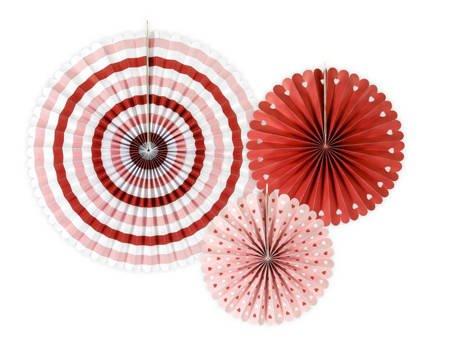 Rozety dekoracyjne - kolorowe - Sweet Love - MIX - 3 szt.
