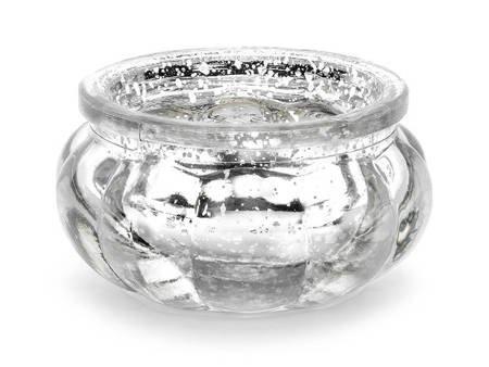 Świecznik - 3 cm - srebrny - 4 szt.