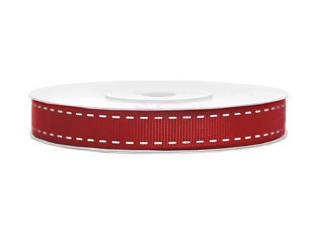 Tasiemka rypsowa - czerwona - 15mm/25m